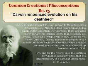 Darwin Renounce evolution