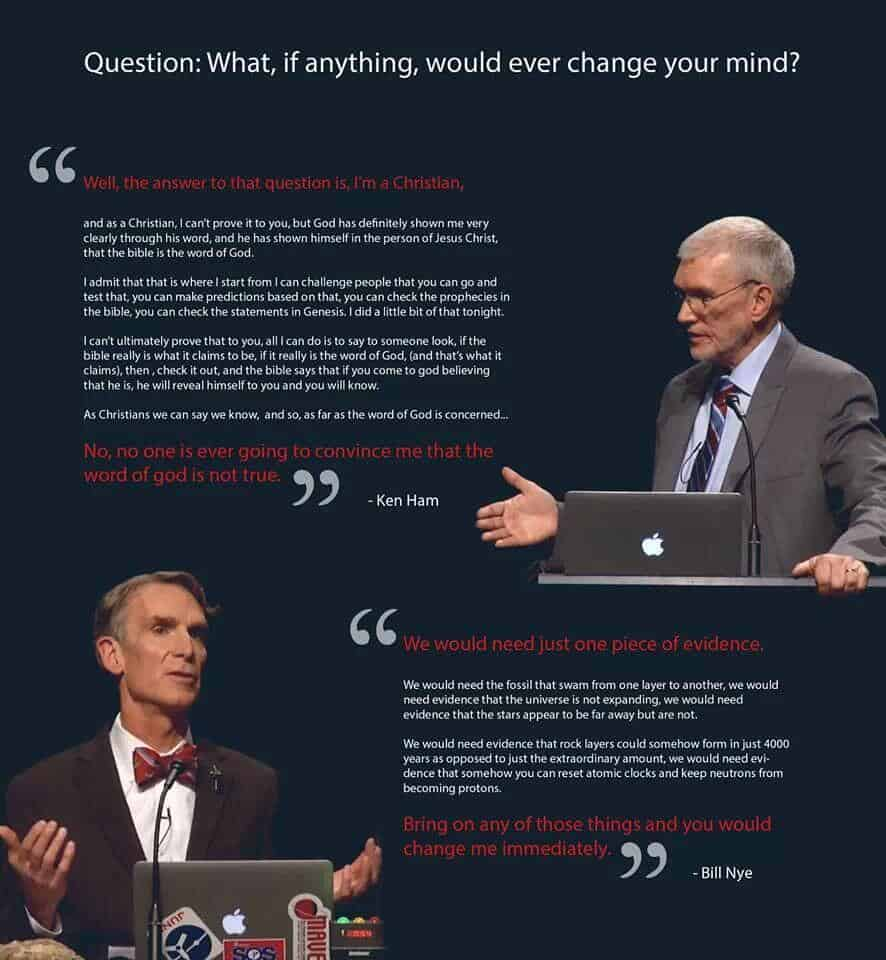 What would change your mind fudamentalist confirmation bias vs science