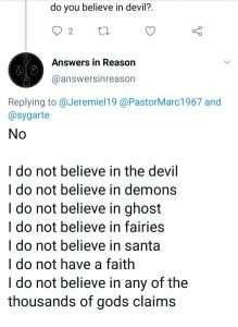 I do not believe in God