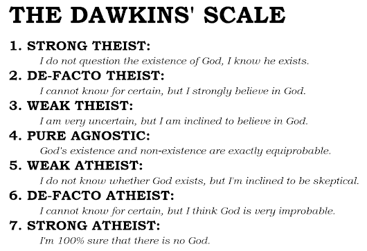 Dawkins Scale of Atheism and Theism